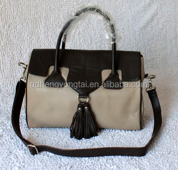 Wholesale Leather bags women leather satchel private label bag tassel fringer bag