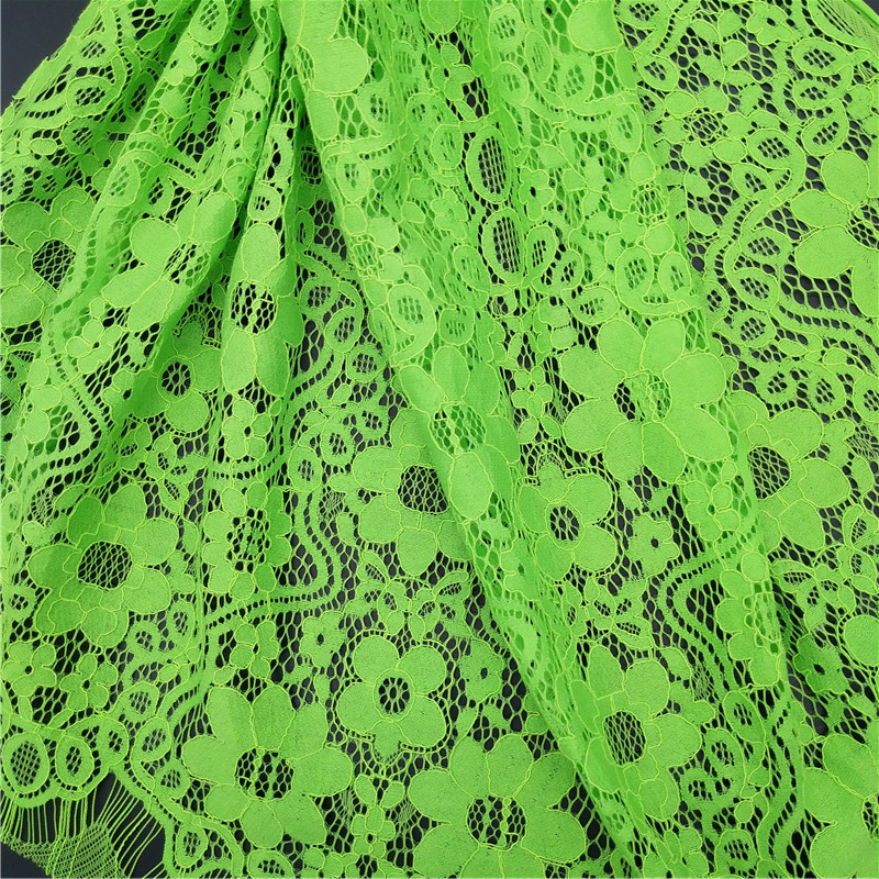2018 chantilly green lace dress fabric wedding