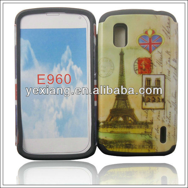 Vivid mobile phone cover eiffel tower phone case for LG E960