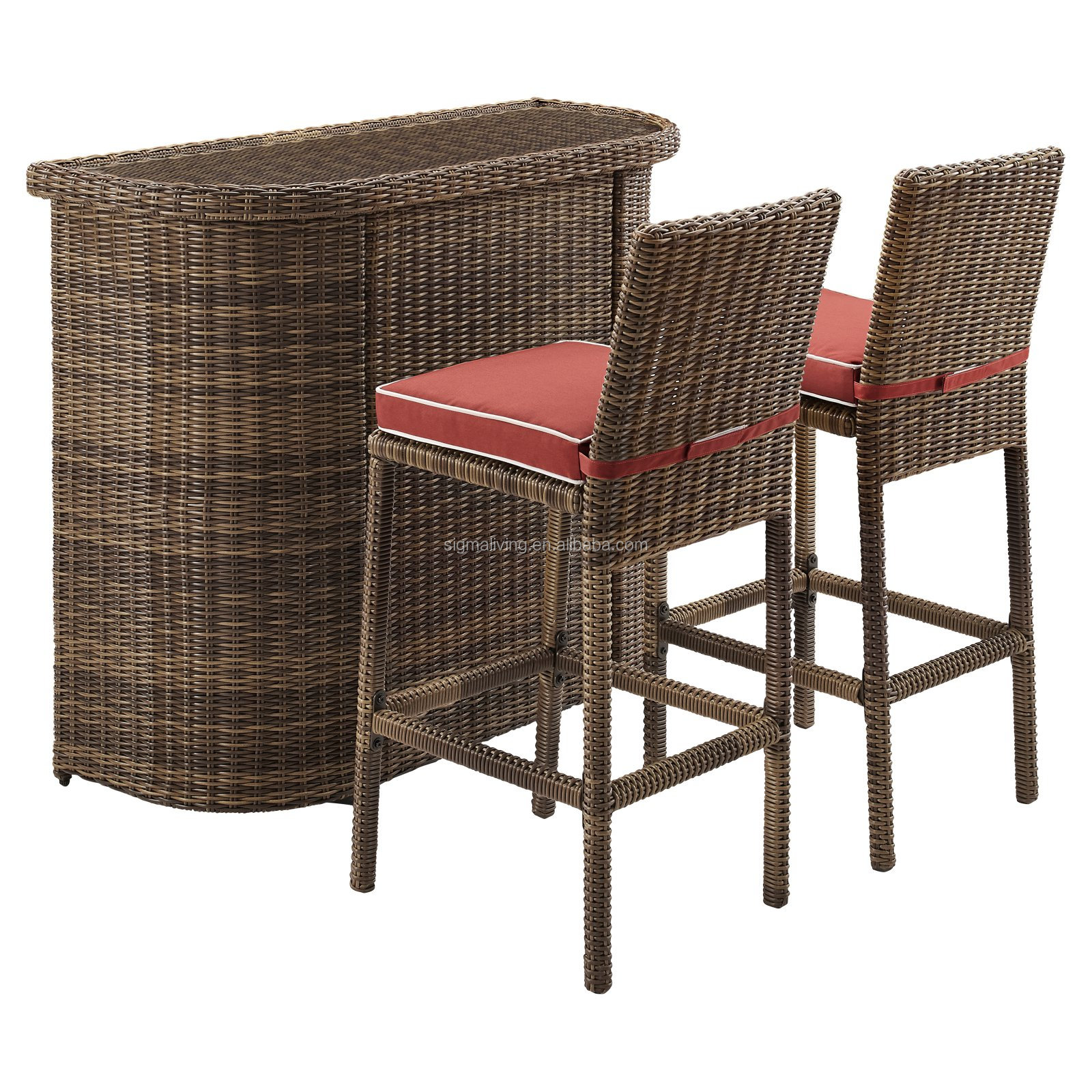 Outdoor wicker patio cube set rattan furniture outdoor cheap outdoor bar sets
