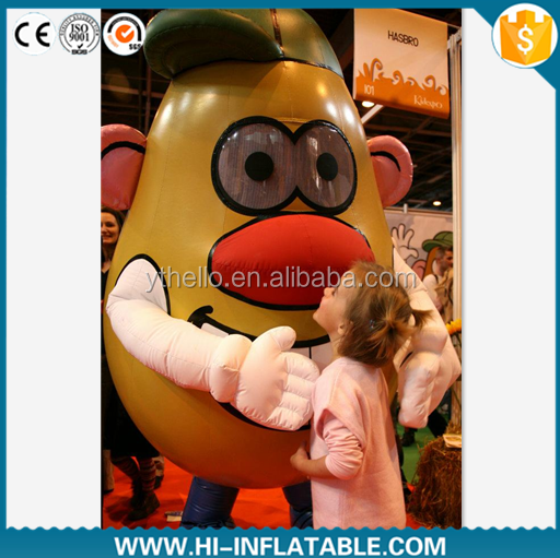 2015 new product inflatable costumes walking mascot, inflatable moving cartoon advertising product
