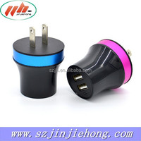 FCC CE ROHS brand portable home wall charger,5V2.1A dual usb travel charger for cell phone