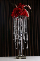 hot selling crystal flower stand for wedding