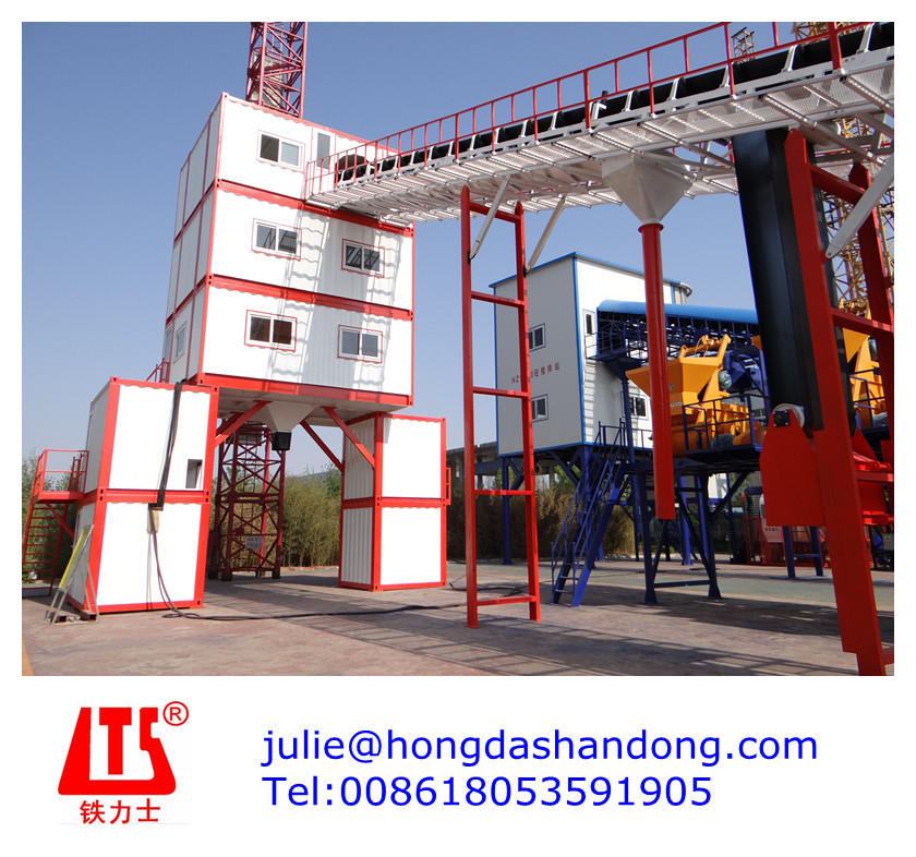 Shandong HONGDA Container Design Type Concrete Batching Plant 120m3/h