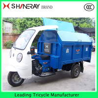 Garbage moto China enclosed three wheel covered motorcycle tricycle