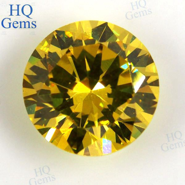 Lab Created Diamond Cut Golden Zircon Stone for Ring