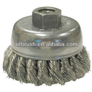 china supplier Heavy-duty knot wire cup brush For Small Angle Grinders