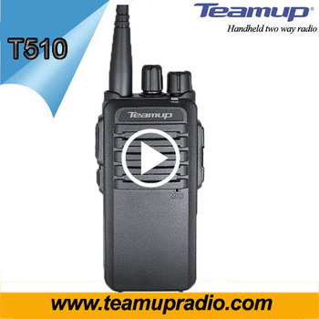 High Quality Teamup 5 Watts Walkie Talkie T510 VHF/UHF FM Transceiver