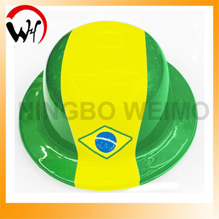 hot sale world cup Brazil 2014 pvc hat