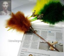 Feather fluffy ballpoint pens, pantone colors available