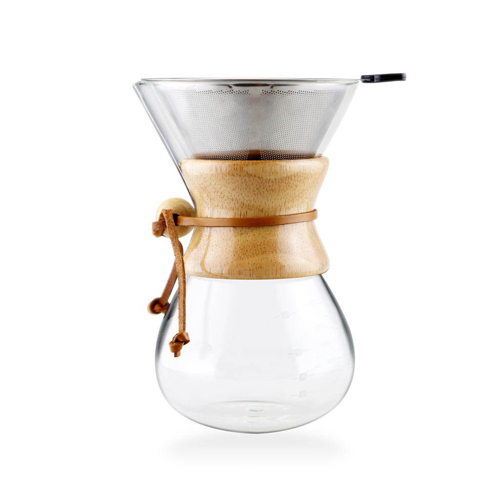 best sale 8 cups <strong>glass</strong> pour over coffee maker with coffee filter
