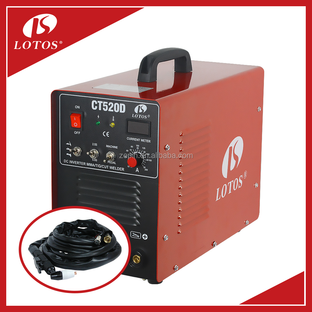 Lotos CT520D Digital IGBT welding machine with MIG TIG MMA 3 in 1 function miller welders