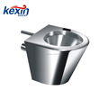 Stainless Steel Replacement for Most Off-Floor Vitreous China Blowout Jet Toilet, Front Mount