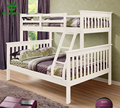Factory Cheap price White children Wood Triple kids Bunk Bed with Ladder