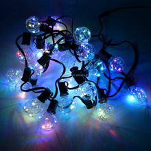 2017 New G40 Clear Bulbs Copper Wire Patio Globe String Light for Outdoor Wedding Decoration