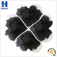Recycled Black Polyester Staple Fiber PSF