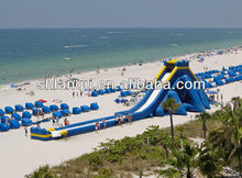 Longest Hippo Inflatable Water Slide for Beach