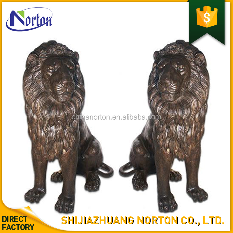 China Norton animal statue entrance guardian pair of lions sculptures in bronze NT-BS235Y
