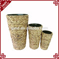 2017 Wholesale customized sizes eco-friendly water hyacinth Cheap set 3 plant Pot flower
