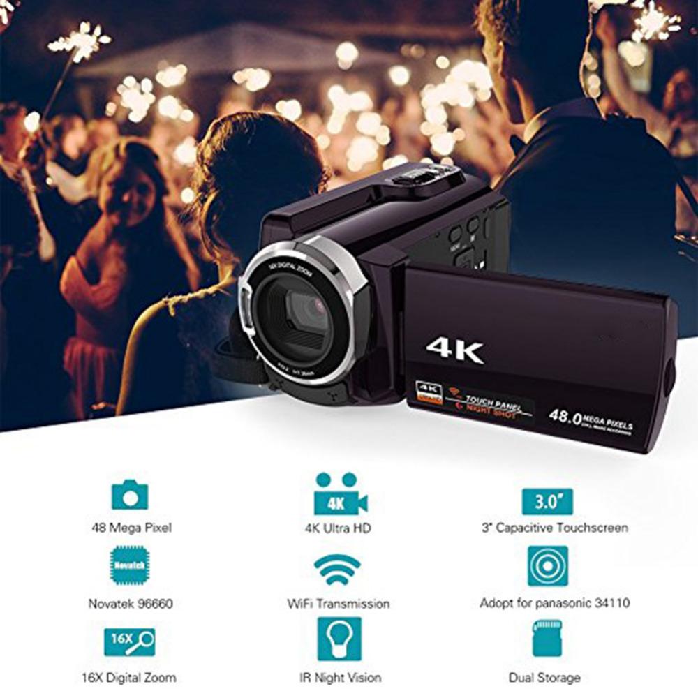 Высокое качество 4 к видеокамера-Регистратор видеокамеры Ultra HD цифровой Камера s и DI0085600 (3)