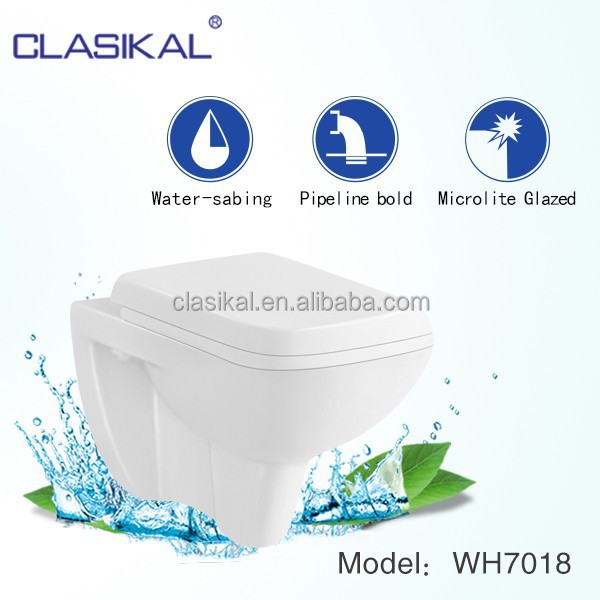 CLASIKAL sanitary ware one piece wall hung ceramic bathroom toilet