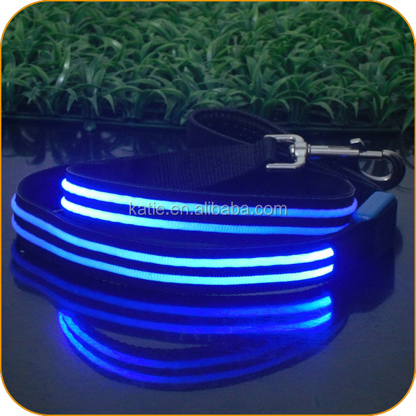 Wholesale Bulk Cheap Dog Slip Leads with Blue LED Lights