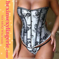 Sexy women push up overbust outwear hang neck light pink halter corsets