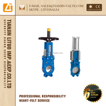 wafer type knife gate valve with handle wheel