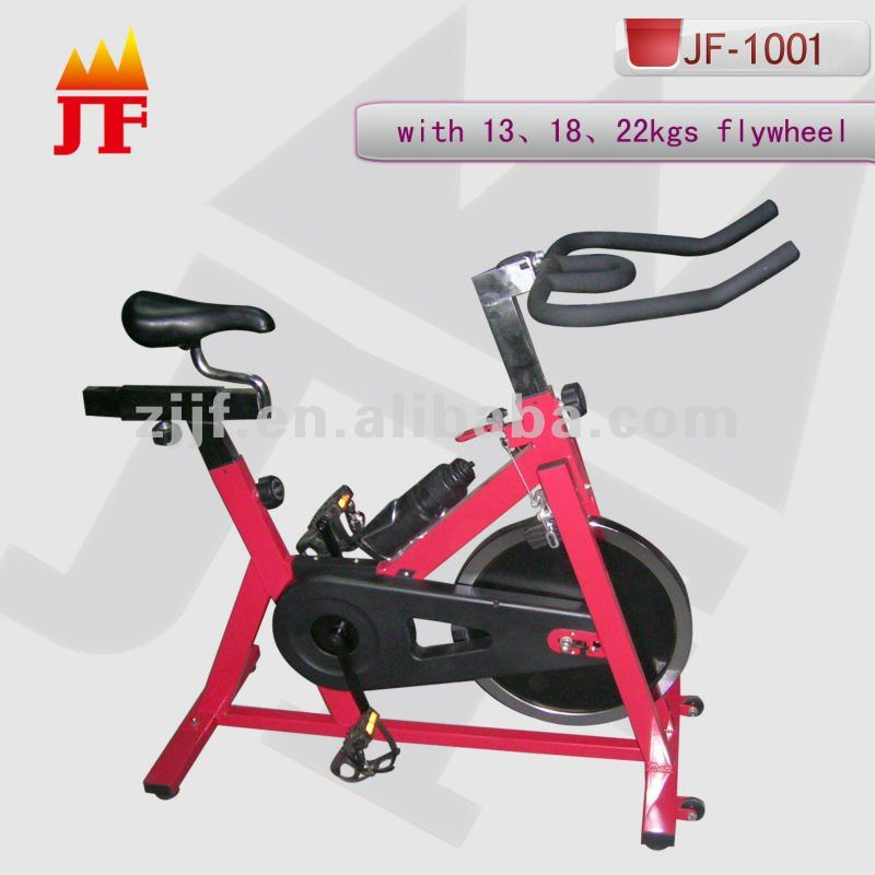 pink heavy flywheel exercise bike