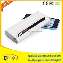 11000mah portable mobile power bank with double USB for mobile or tablet pc