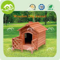 DH-05M easy assembly honey red wooden dog kennel,big dog kennel