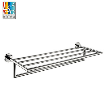wall mounted single bar bathroom towel rack