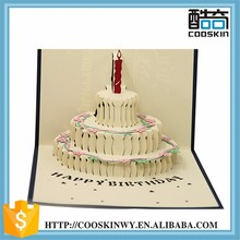 Durable using low price wedding 3d pop up greeting card