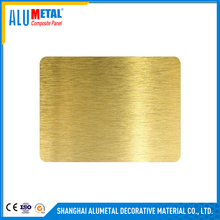 (acp) brush finish polycarbonate sheet aluminum composite panels, honeycomb backed thin stone panel
