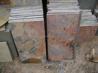natural rust color slate tile
