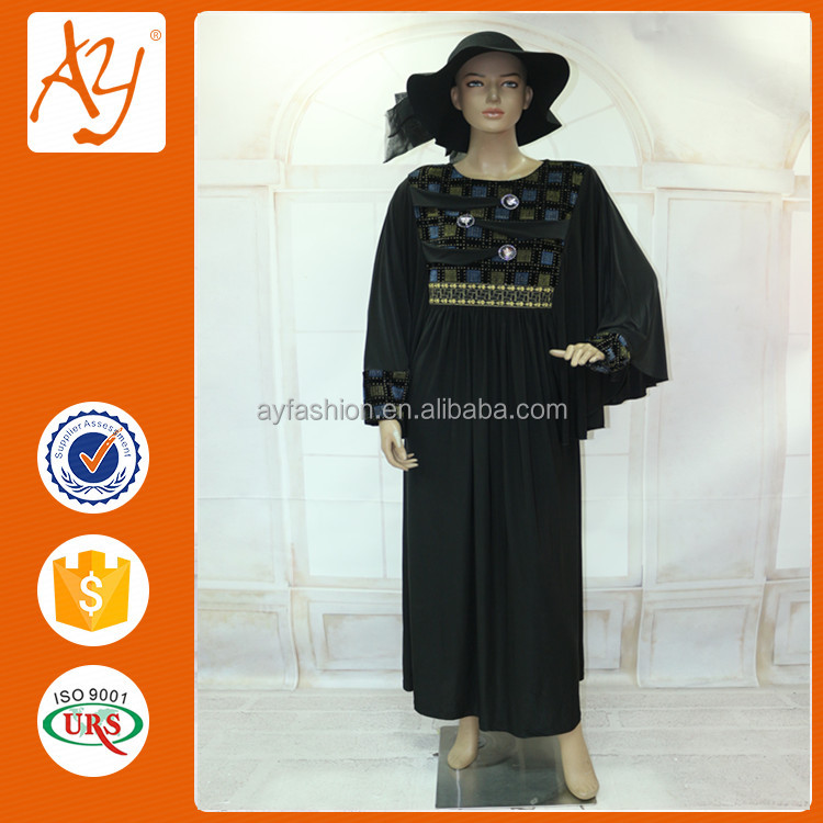 Black ice fabric big big hand abaya wholesale online for muslim style