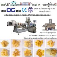Extruded pellet 3d 2d papad snacks production line from Jinan DG machinery company