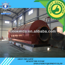 Xinda 6 tons long life service environmental waste plastic pyrolysis to diesel oil device