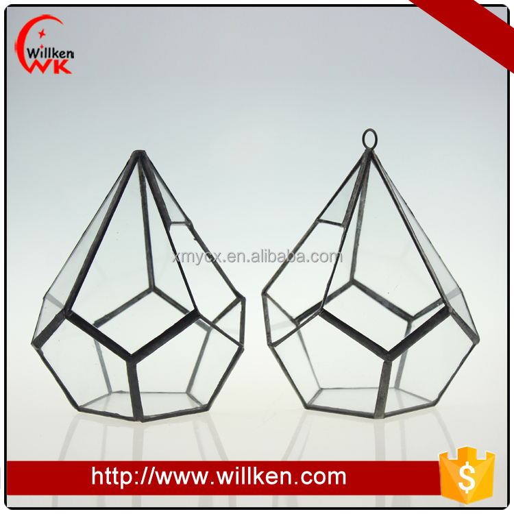 Geometric glass hanging terrarium wholesale