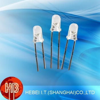 round type led diode 3mm Red flat top led