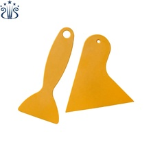 Plastic Scrapers Wallpaper Smoother Vinyl Wrap Squeegee Ideal for Auto Window Tint, Sticker Removing (Yellow)