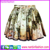 Nanbinfashion print neswest latest skirt design pictures