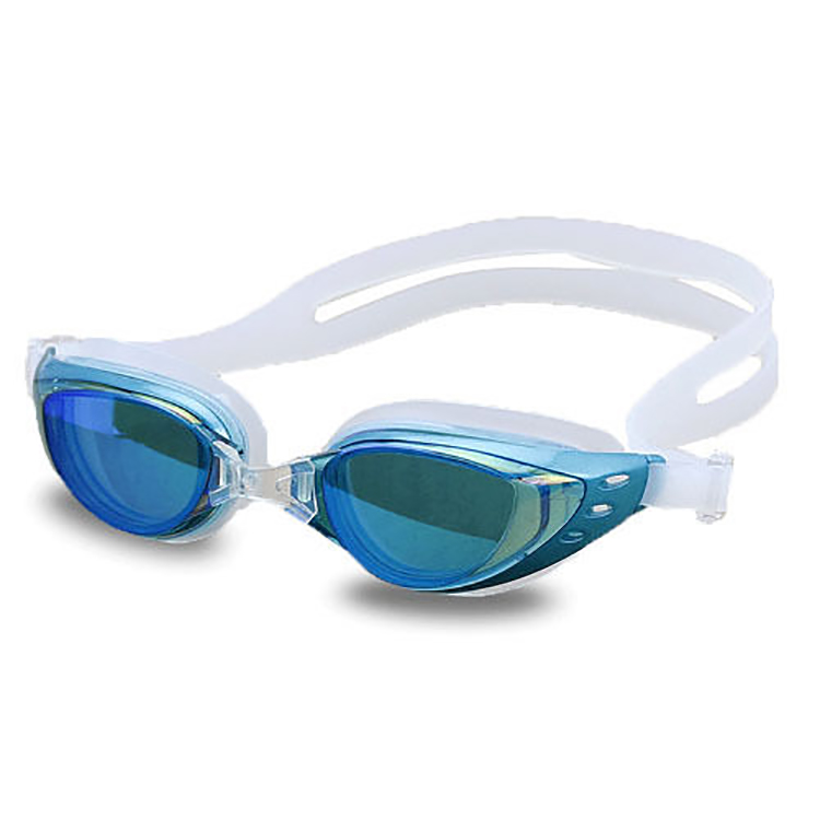 Newest Selling Fashionable Luxury Silicone Swimming Goggles Mirrored Colorful Swimming Goggles