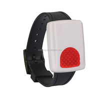 Wireless Waterproof Wrist panic Button Alarm,Safe Guard Your Old People