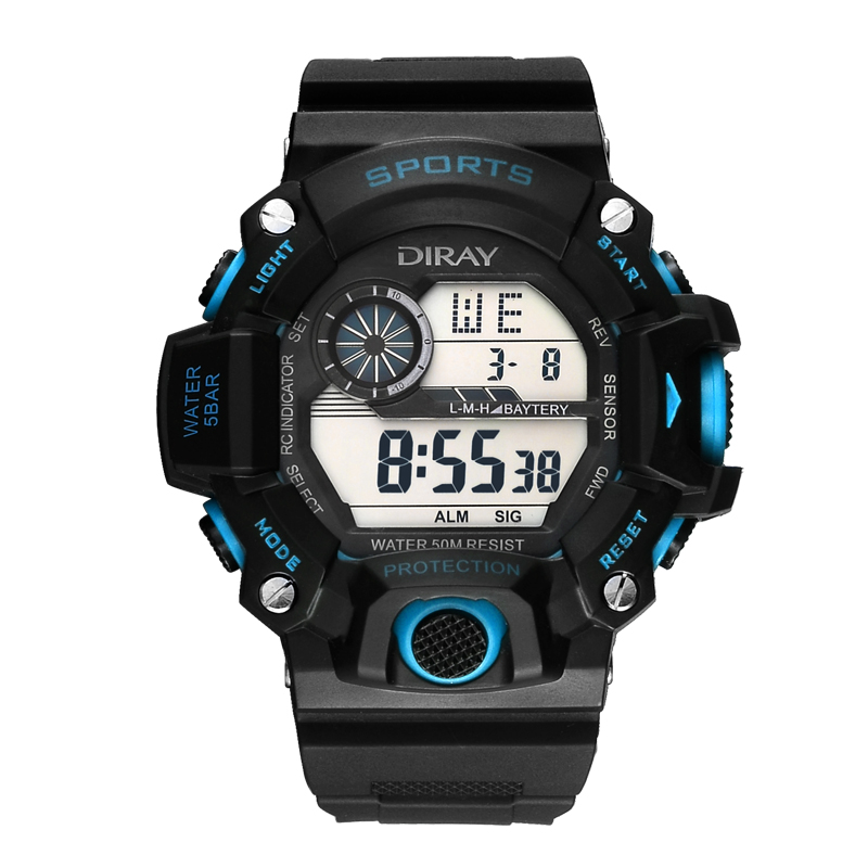Digital Watch Men Waterproof LED Men Sport Watches Military Pedometer Chronograph electronic Watch