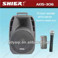 SHIER AK15-306 15 inch portable battery powered professional audio mixer