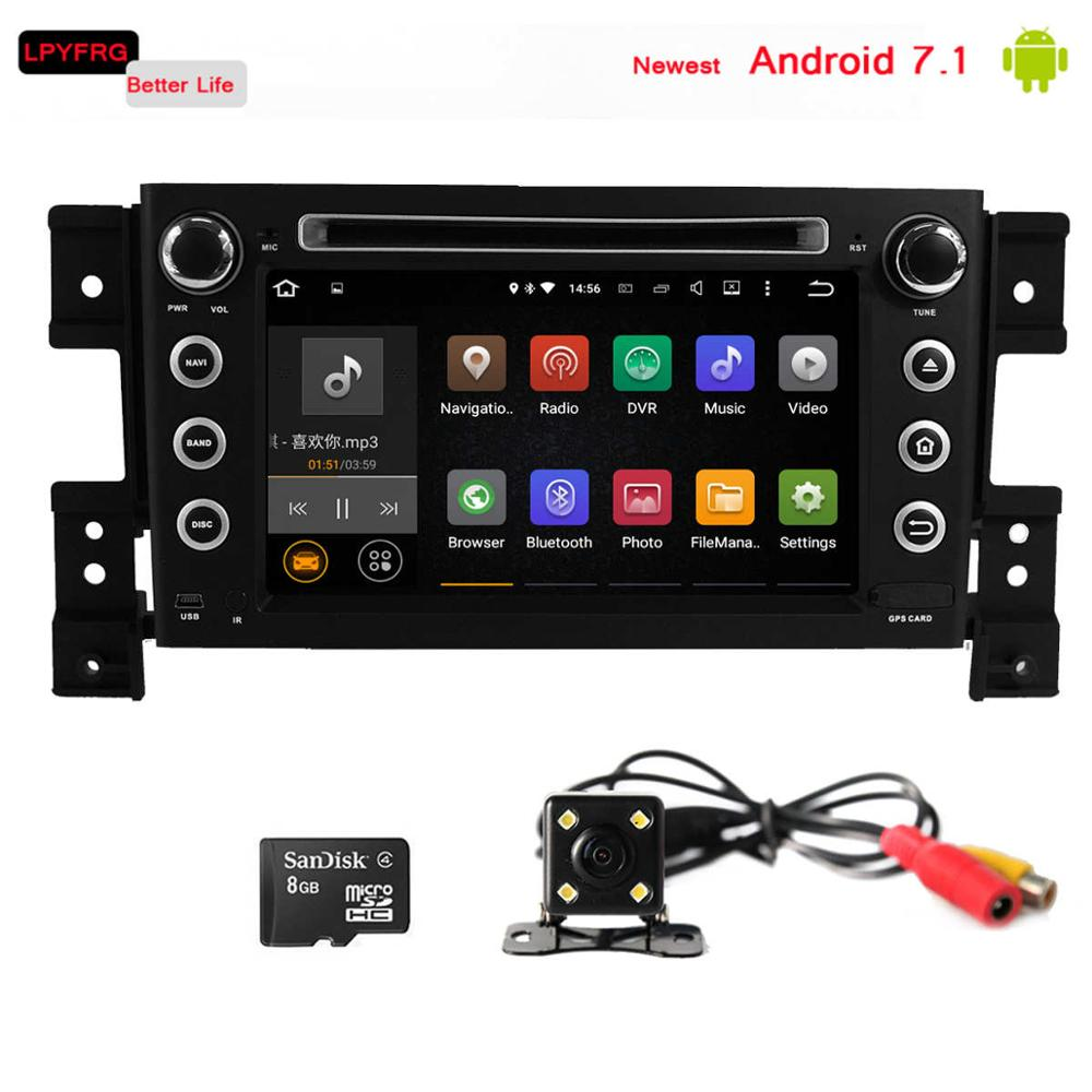 Newest android 7.1 touch screen car radio gps for suzuki grand vitara 2 din 7 inch car dvd player 2005-2011 RAM 2GB