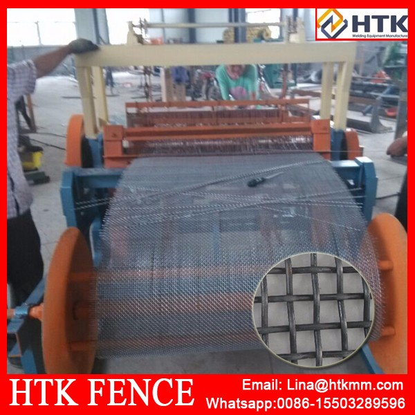 New type!!! Crimpe Wire Mesh Small Square Hole Weaving Machine