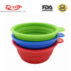 BPA free reusable food grade silicone collapsible pet bowl