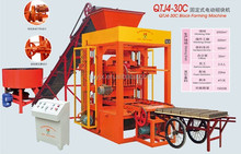 Full automatic hallow block making machine QT4-26 compressed brick machine with stand mixer